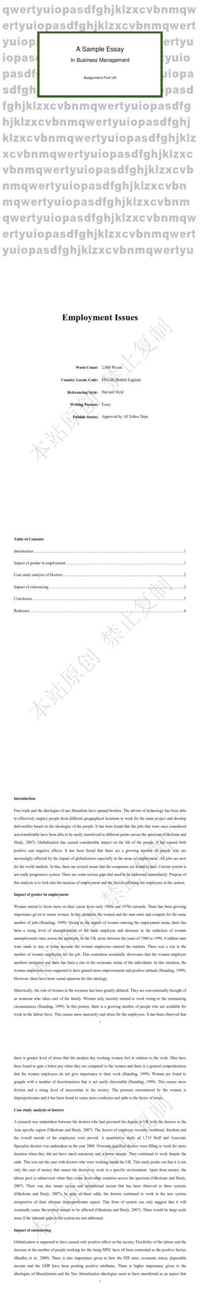 英国代写essay : 商业管理论文代写